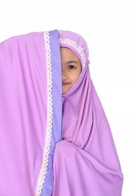 Telekung Jasmeen Purple