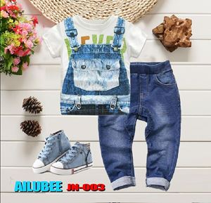 JN003 ( NEVER ) AILUBEE JEANS 2pcs SET