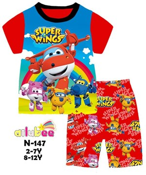 @  N-147  AILUBEE SUPER WINGS CASUAL  WEAR ( 2-12Y )