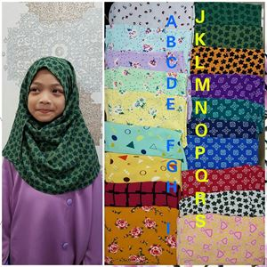 Instant Shawl Bubble Printed (Kids)