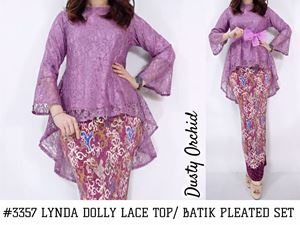 LYNDA DOLLY LACE TOP / PLEATED SET