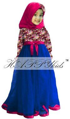 Flower Dress Dark Blue