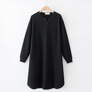 Long Knit Top (Black)