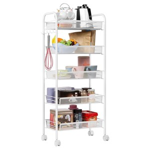 MOVEABLE STORAGE TROLLEY 5 LAYER