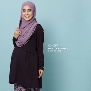 Werda Blouse : Dark Purple