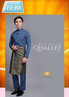 #DEFECT# BAJU MELAYU QHALEEF (CRYSTAL BLUE) ADA BAJU SAHAJA