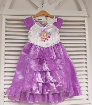 @  P30373-E PURPLE RAPUNZEL SATIN DRESS
