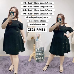 CS26 Ready Stock *Bust 40 to 49 inch/ 100-124cm