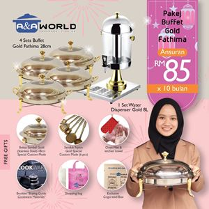 PAKEJ BUFFET FATHIMA + WATER DISPENSER GOLD + FREEGIFTS🎁
