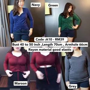 A10 Ready Stock *Bust 40 to 50 inch  / 101- 127cm