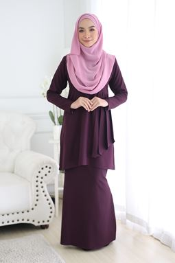 FELLINA KURUNG-DARK PURPLE