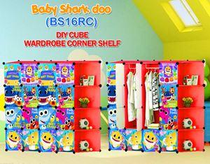 Baby Shark Doo RED 16C DIY WARDROBE w CORNER RACK (BS16CR)