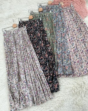 Lora pleated skirt