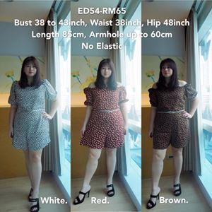 ED54  Ready Stock  *Bust 38-43inch/ 96-109cm