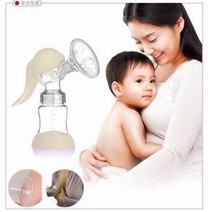 180ml Silicone Manual Hand-type BPA Free Breast baby Pump bottle baby mum milk warmer child