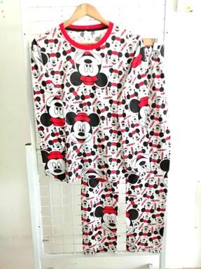 Pyjamas MICKEY SMILEY FACE : Size DEWASA M - 4XL