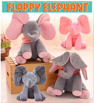 PEEK A BOO FLAPPY ELEPHANT PLUSH TOY
