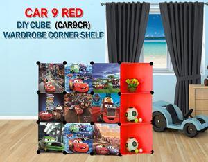 Cars Red 9C DIY Wardrobe with Corner Shelf (CAR9CR)