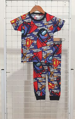 BABY 6M - 24M Pyjamas SUPER AMONG US BLUE (HELAL)