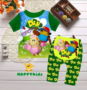 @  H-008  DIDI & FRIENDS   GREEN  { SIZE 3-24M }