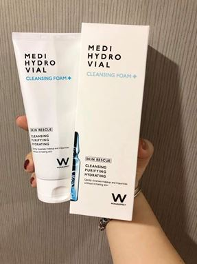 Ready stock -Wonjin Effect Medi Hydro Vial Cleansing Foam 原辰玻尿酸安瓶保湿洁面乳