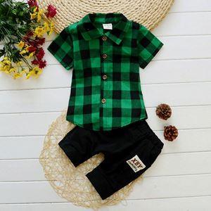 BB279-11   BOY SET 4  { CREAKER BLACK GREEN )  80-110