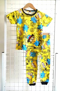 Pyjamas MINION OUTER SPACE YELLOW :  Big Size 12 (HELAL)