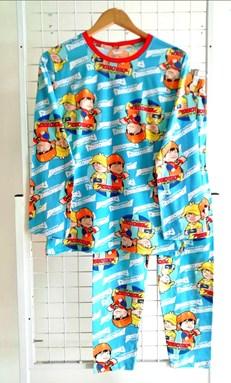 SIZE XL - 3XL DEWASA Pyjamas BOBOIBOY SKY BLUE (HELAL)