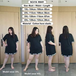 NC418  *Bust 39 to 55 inch/ 99-139cm