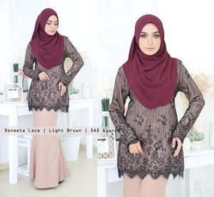 Kurung Doneeta Lace Light Brown