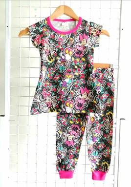 SIZE 2 KIDS  Pyjamas MINNIE MOUSE AND DAISY DUCK BLACK : (MYSHA)
