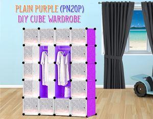 Plain Purple 20C DIY Wardrobe (PN20P)