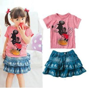 @  G079/12 DISNEY 2 PCS SET ( TEE + DENIM SKIRT )