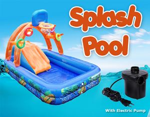 SPLASH SLIDEPOOL CW ELECTRIC PUMP