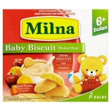 Milna Mixed Fruits Baby Biscuit 6+ Months 130g