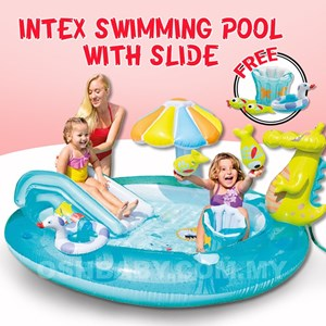 INTEX SWIMMING POOL WITH SLIDE