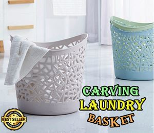 CARVING LAUNDRY BASKET