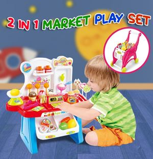 2 IN 1 MARKET PLAY SET ETA 1 MARCH 19