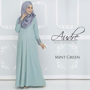 Audre Lacey Dress : Mint Green