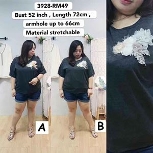 3928 Ready Stock *Bust 52 inch/ 132cm