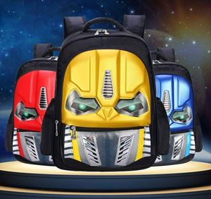 3D Transformer School Bag With Light