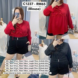 C1237 *Ready stock *Bust fit up to 141cmt up to 55 inch / Bust fit up to 141cm