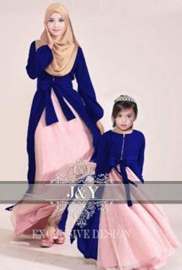 J069 PRINCESS DRESS SET ROYAL BLUE