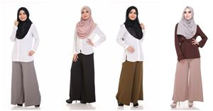 FREE ( WHEN BUY 2 BLOUSE) Palazzo  Maternity Friendly with Adjustable Waistband