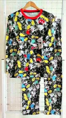 SIZE XL, 3XL DEWASA Pyjamas MICKEY SAIL BLACK  (MF)