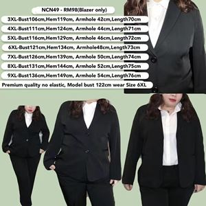 NCN49  *Bust 42 to 53 inch/ 106-136cm