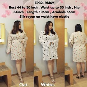 E932  *Ready Stock *Bust 44 to 50inch/112-127cm