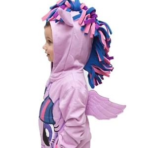 GIRLS PONY ZIPPER  SWEATER