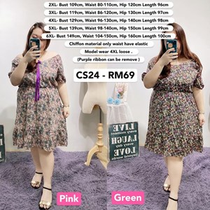 CS24 Ready Stock*Bust 43 to 59 inch/ 109-149cm