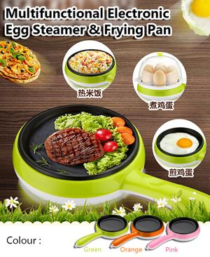 Multifunctional electric egg steam& frying pan